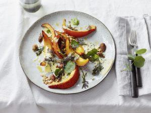 Salat aus gegrilltem Kürbis